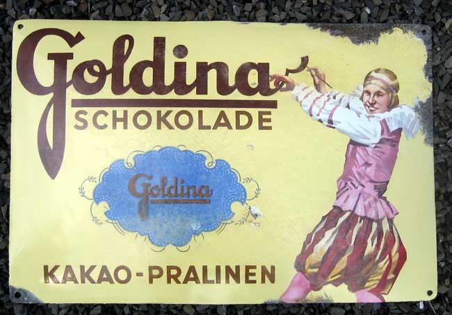 Sarotti Kakao Mohr Blechschild Metallschild Schild gewölbt Tin Sign 30 x 40 cm