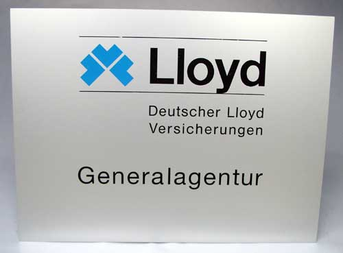 buying new outlet best deals on Versicherungen Versicherungsschilder Emaille Blech Firemarks ...